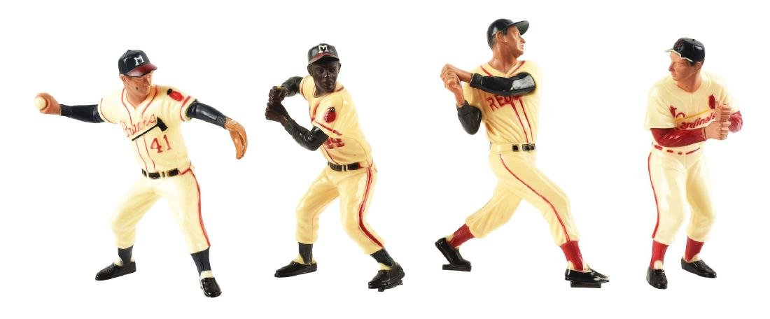 Lot of 4: Hartland Hall of Fame Baseball Figures.