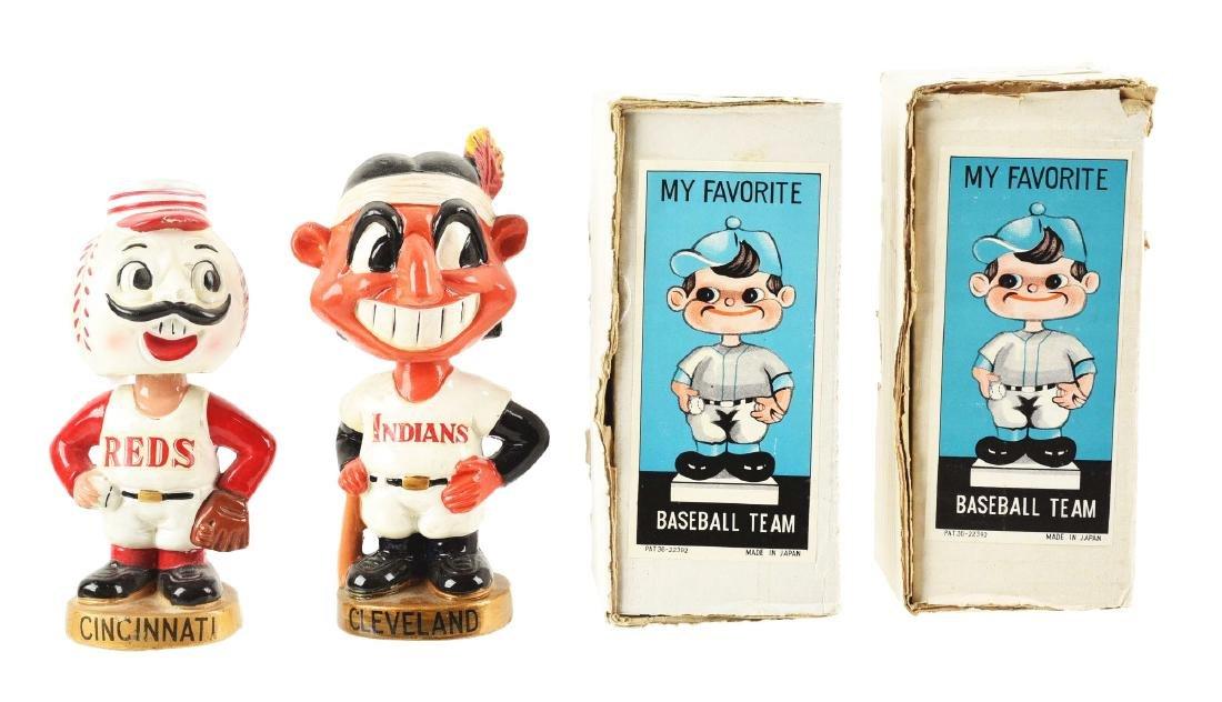 Lot of 2: Baseball Composition Mascot Bobbin Head