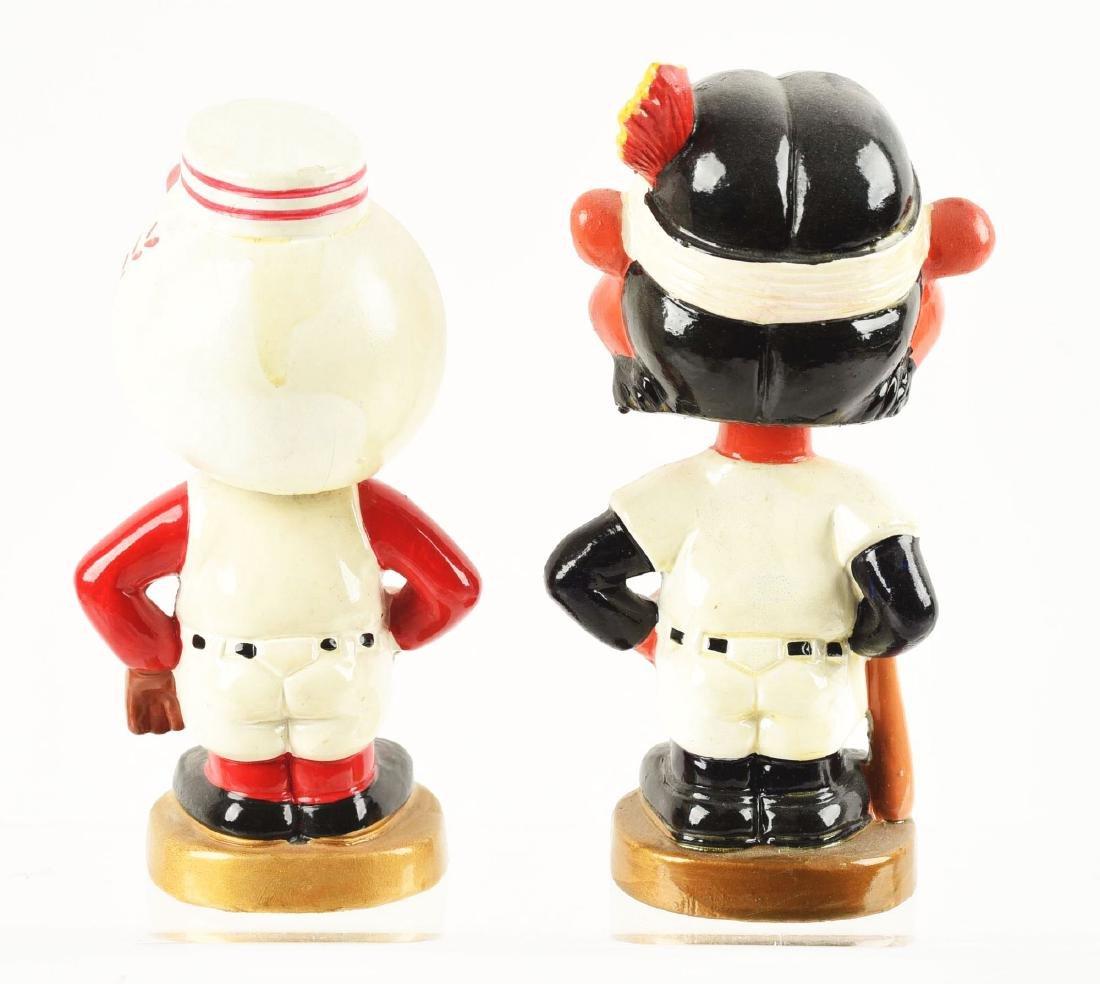 Lot of 2: Baseball Composition Mascot Bobbin Head - 2