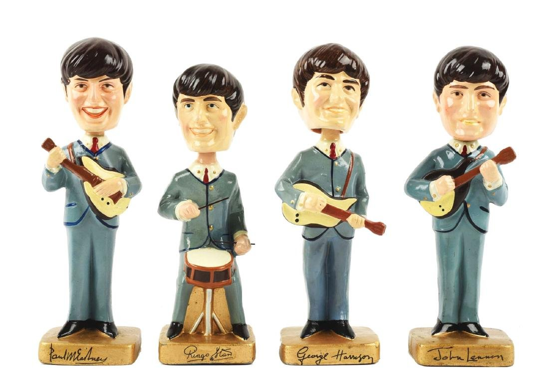 Set of 4: Beatles Nodders.