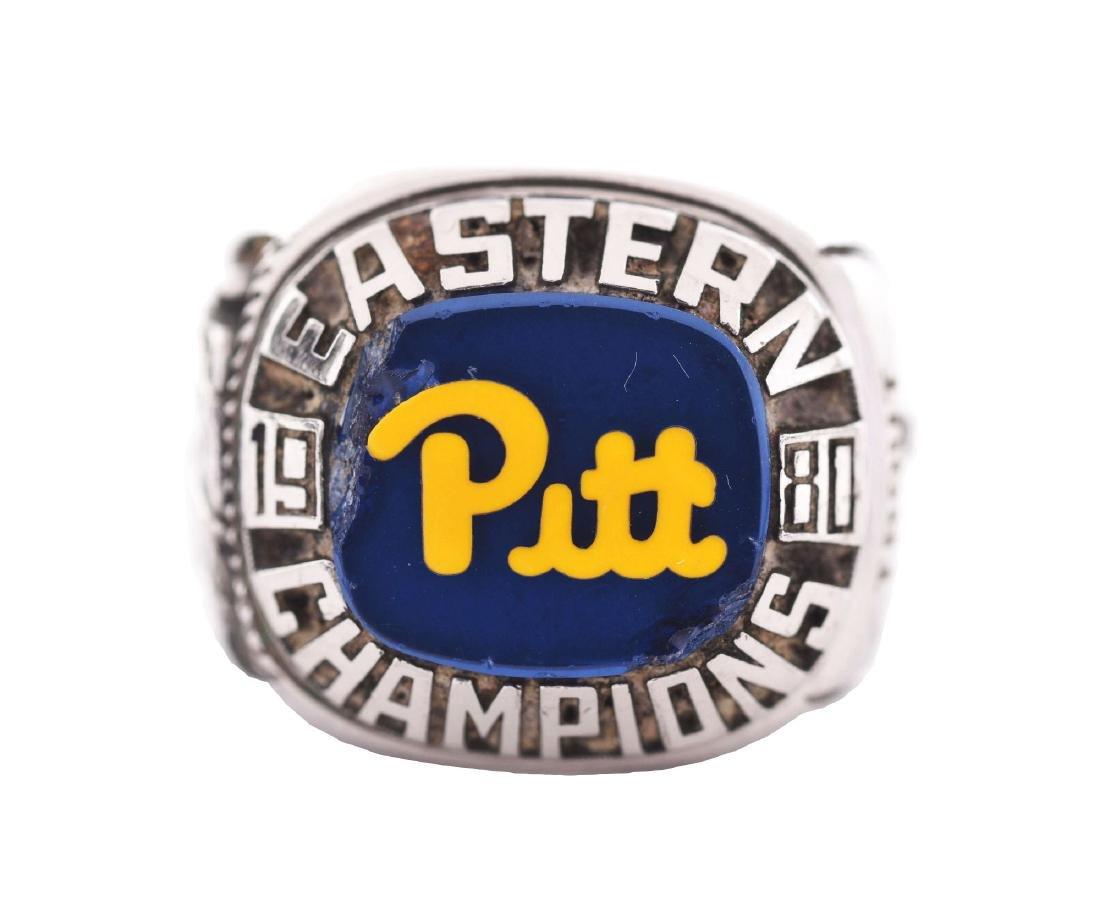 1980 Pitt Football Eastern Champions Players Ring.