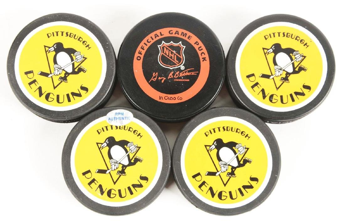 Lot of 5: Pittsburgh Penguins Signed Hockey Pucks - 2