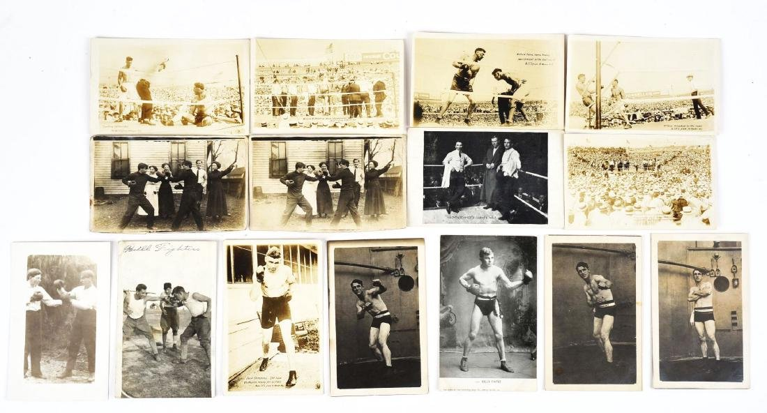 Lot of 15: Boxing Postcards.