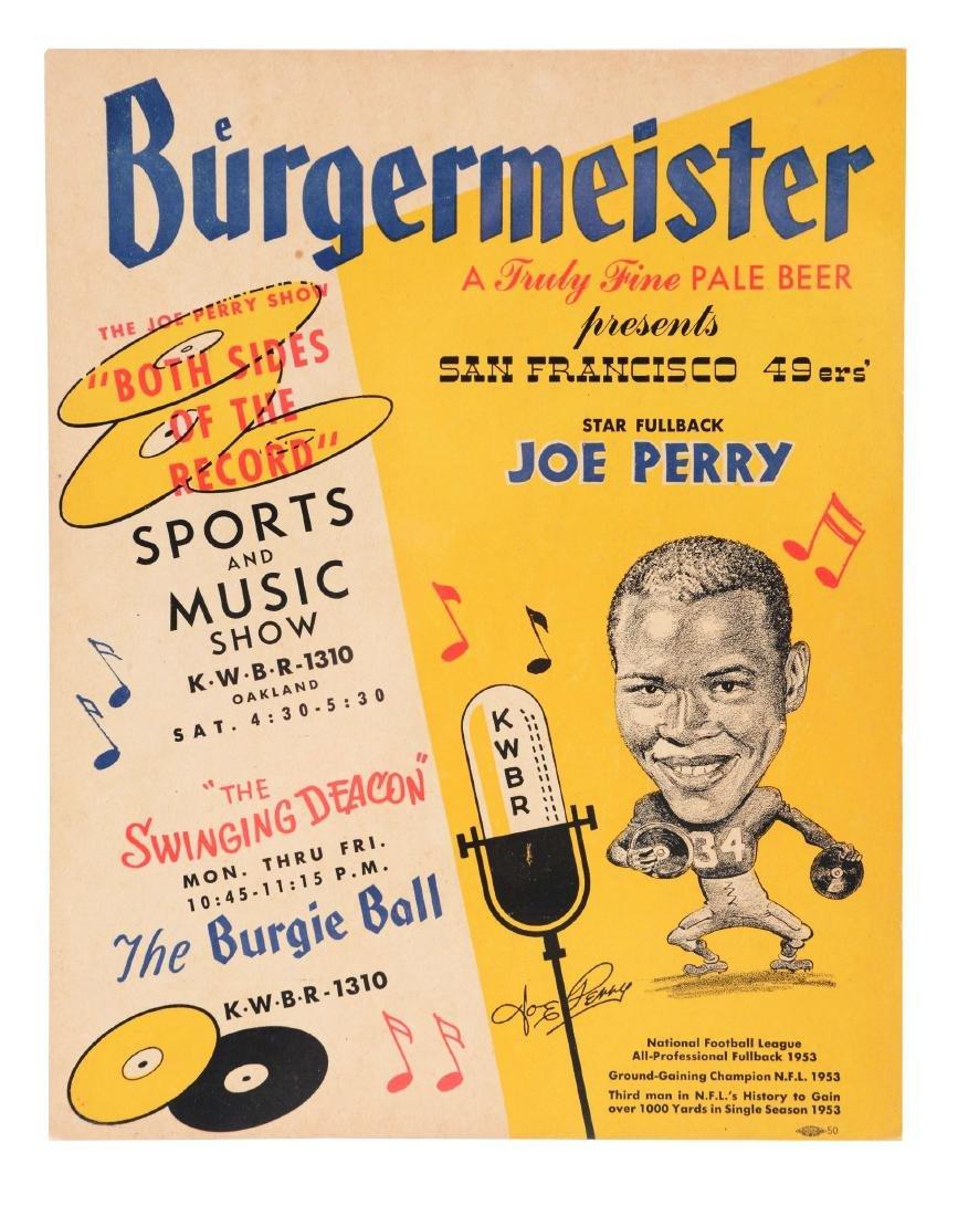 Unusual 1950's Burgermeister Joe Perry Advertising