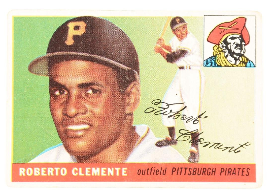 1955 Topps Roberto Clemente Rookie Card.