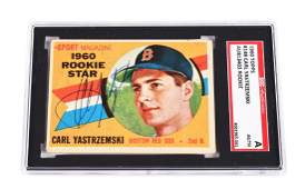 1960 Topps 148 Carl Yastrzemski Signed Rookie Card