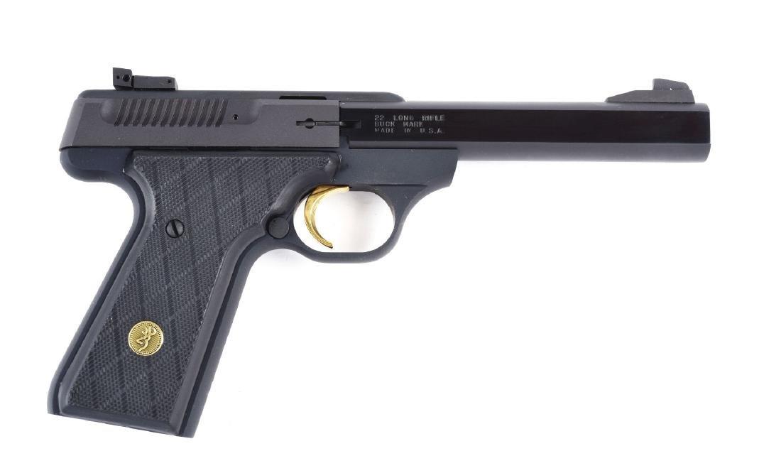 (M) Boxed Browning Buck Mark .22 Semi-Automatic Pistol.