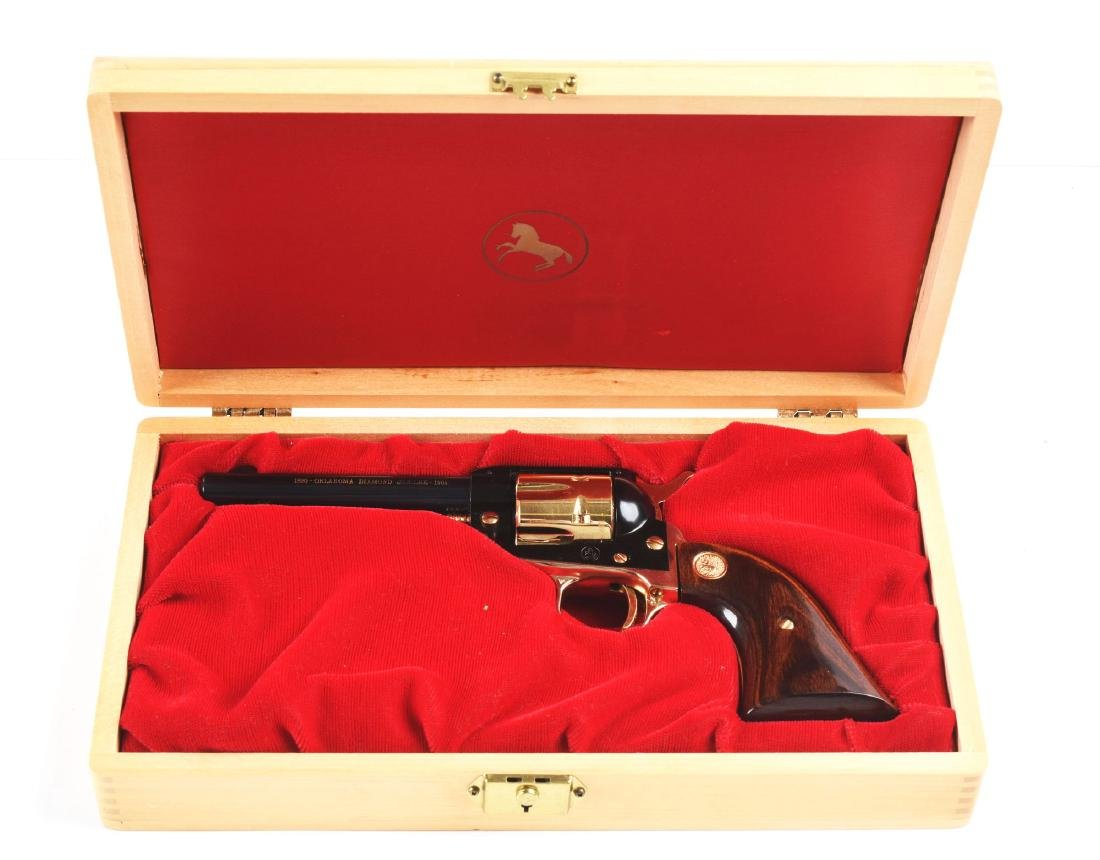 (C) Cased Colt Frontier Scout Oklahoma Diamond Jubilee