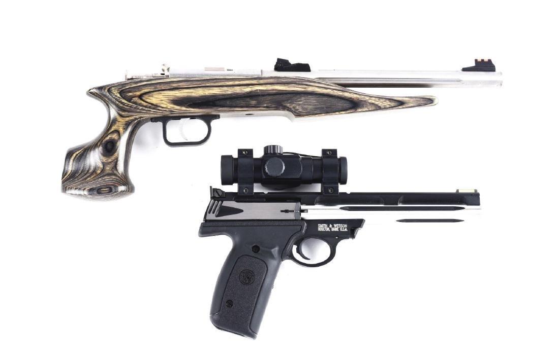 (M) Lot of 2: Semi-Automatic & Bolt Action Pistols.