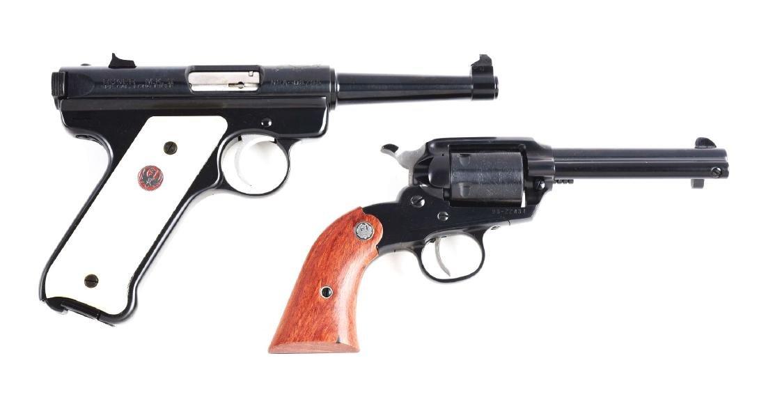 Lot of 2: Cased Ruger Handguns.