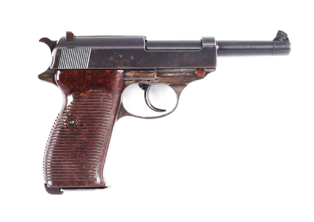 (C) Nazi Marked Walther P-38 Semi-Automatic Pistol.