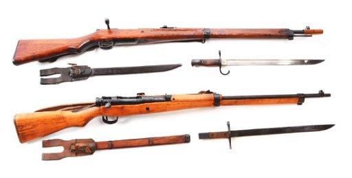 (C) Lot of 2: Japanese Arisaka Type 99 Bolt Action