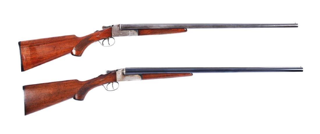 (C) Lot of 2: Double Barrel Boxlock Lefever Shotguns.
