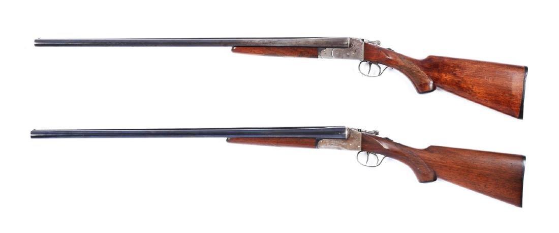 (C) Lot of 2: Double Barrel Boxlock Lefever Shotguns. - 2