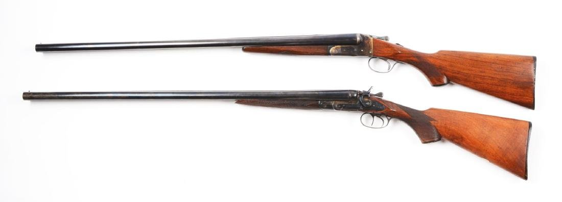 (C) Lot of 2: Lefever and Stanley Arms 12 Bore Double - 2