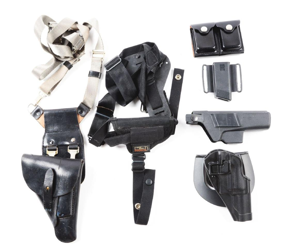 Large Lot of Leather and Canvas Holsters and Ammuntion - 2