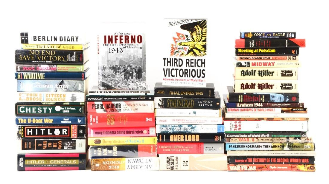 Large Lot of WWII History Books & Novels.