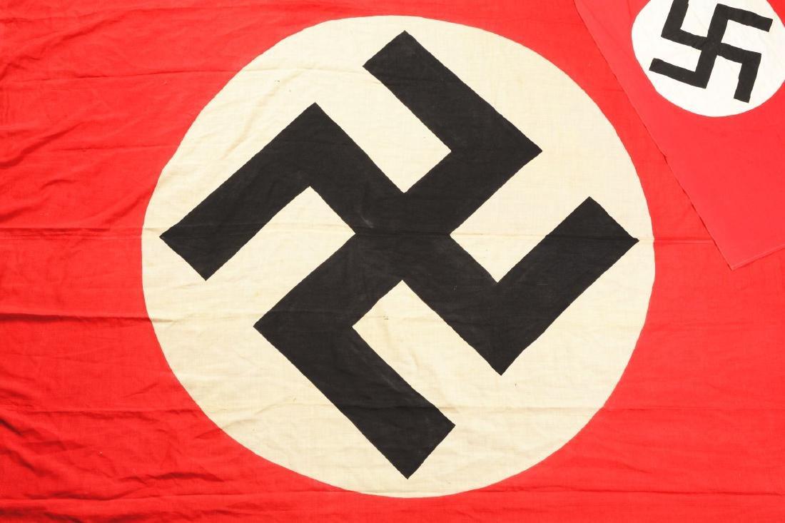 Lot of 2: Nazi Party Flags & DAK Pith Helmet. - 2