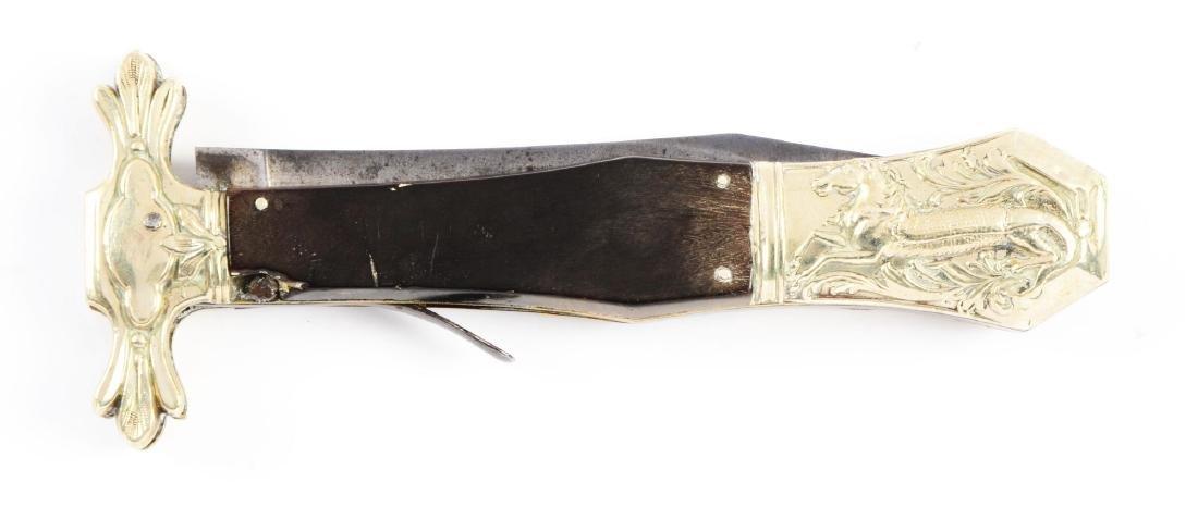 Half Horse-Half Alligator Folding Bowie made for W.F. - 4