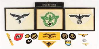 Lot of 17 WWII German Insignia