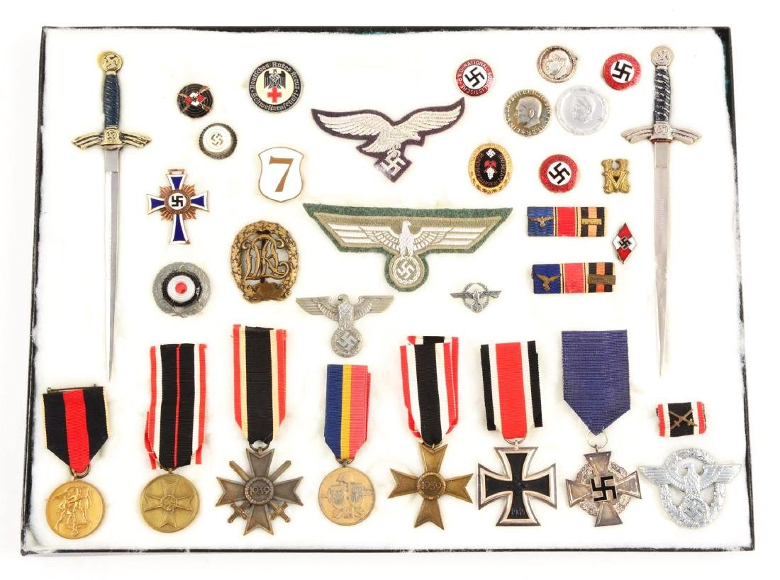 Lot of 30: WWII German Medals, Pins, Badges & Mini