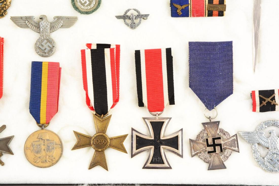 Lot of 30: WWII German Medals, Pins, Badges & Mini - 3