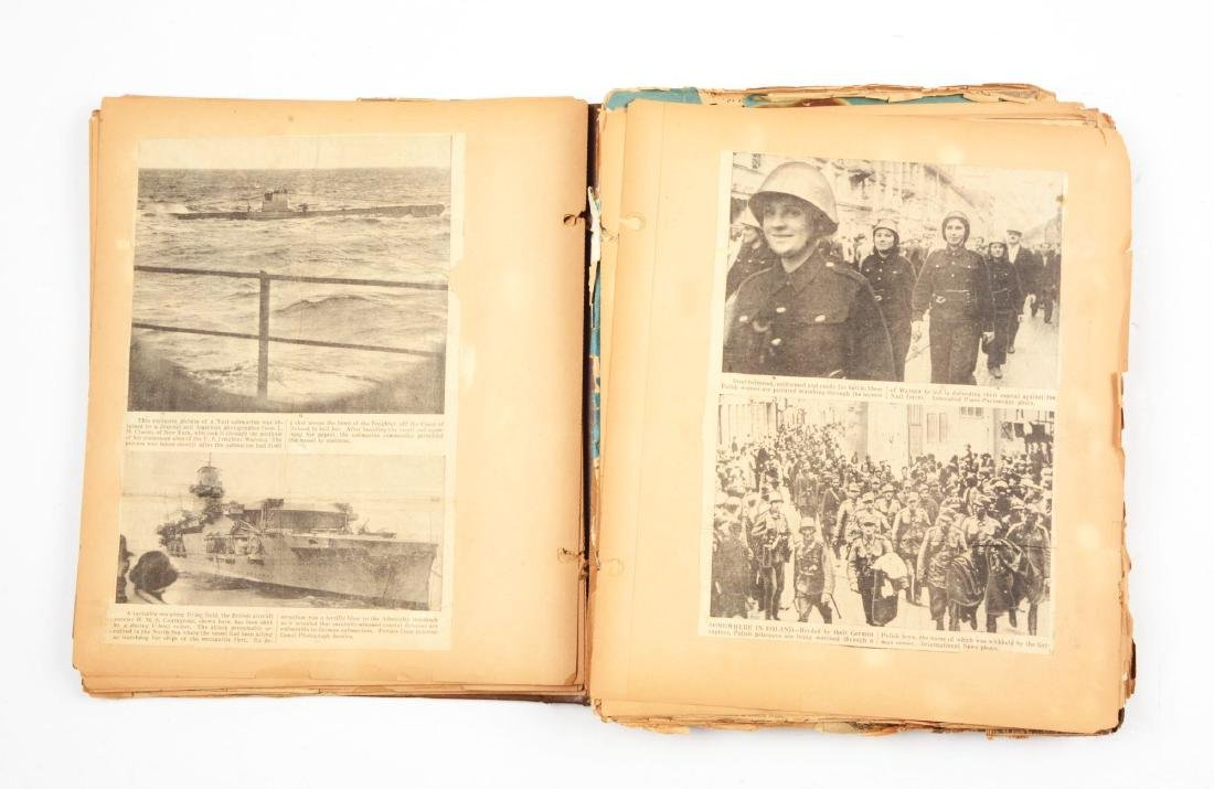 Rare & Complete WWII Album of News Clippings. - 2