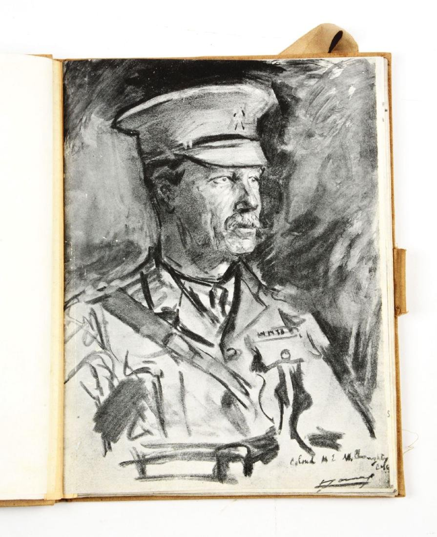 Lot of 4: WWI Battlefield Art or Sketch Books by French - 10
