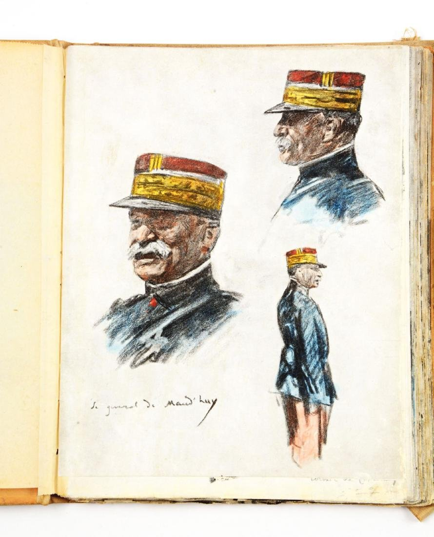 Lot of 4: WWI Battlefield Art or Sketch Books by French - 2