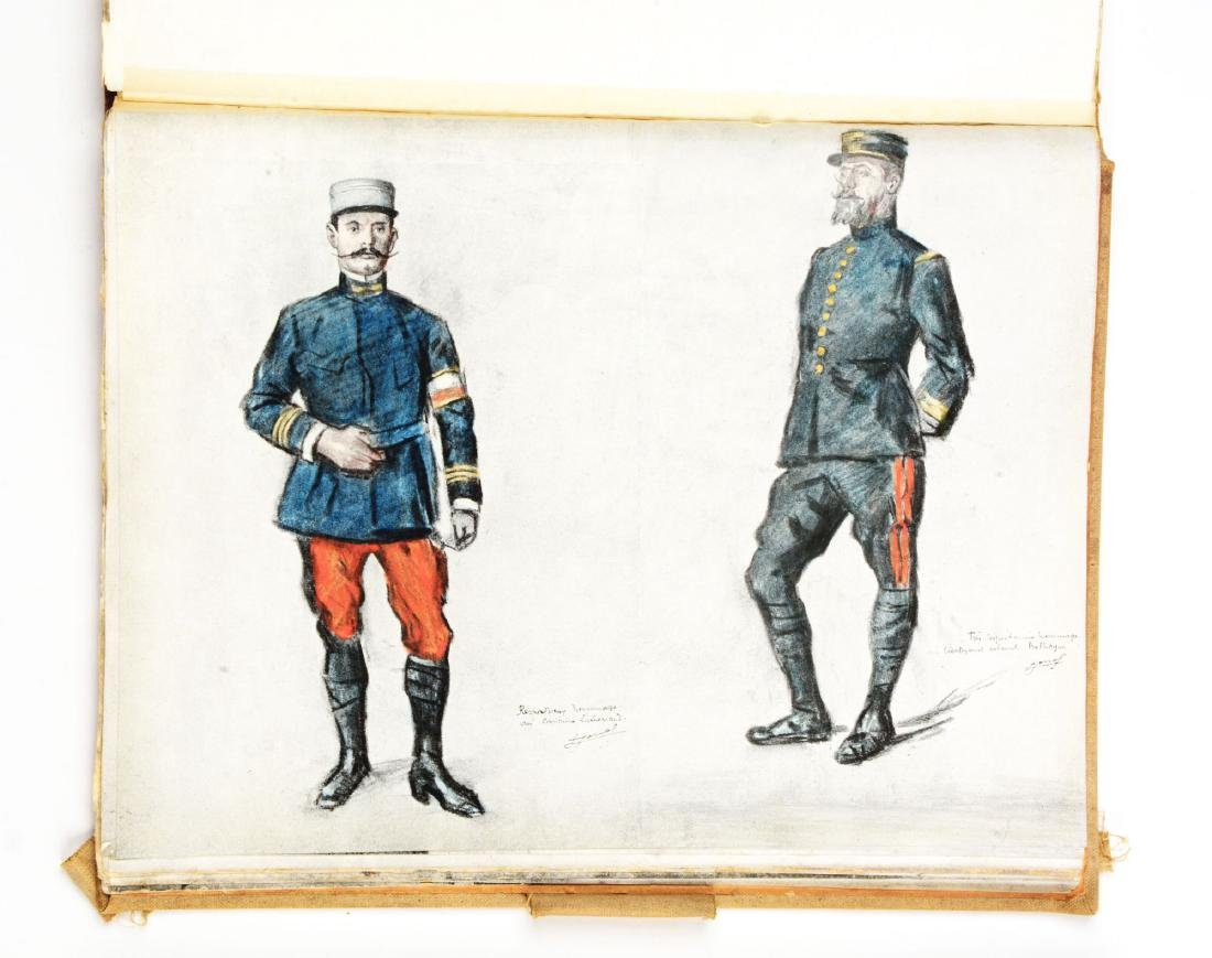 Lot of 4: WWI Battlefield Art or Sketch Books by French - 4