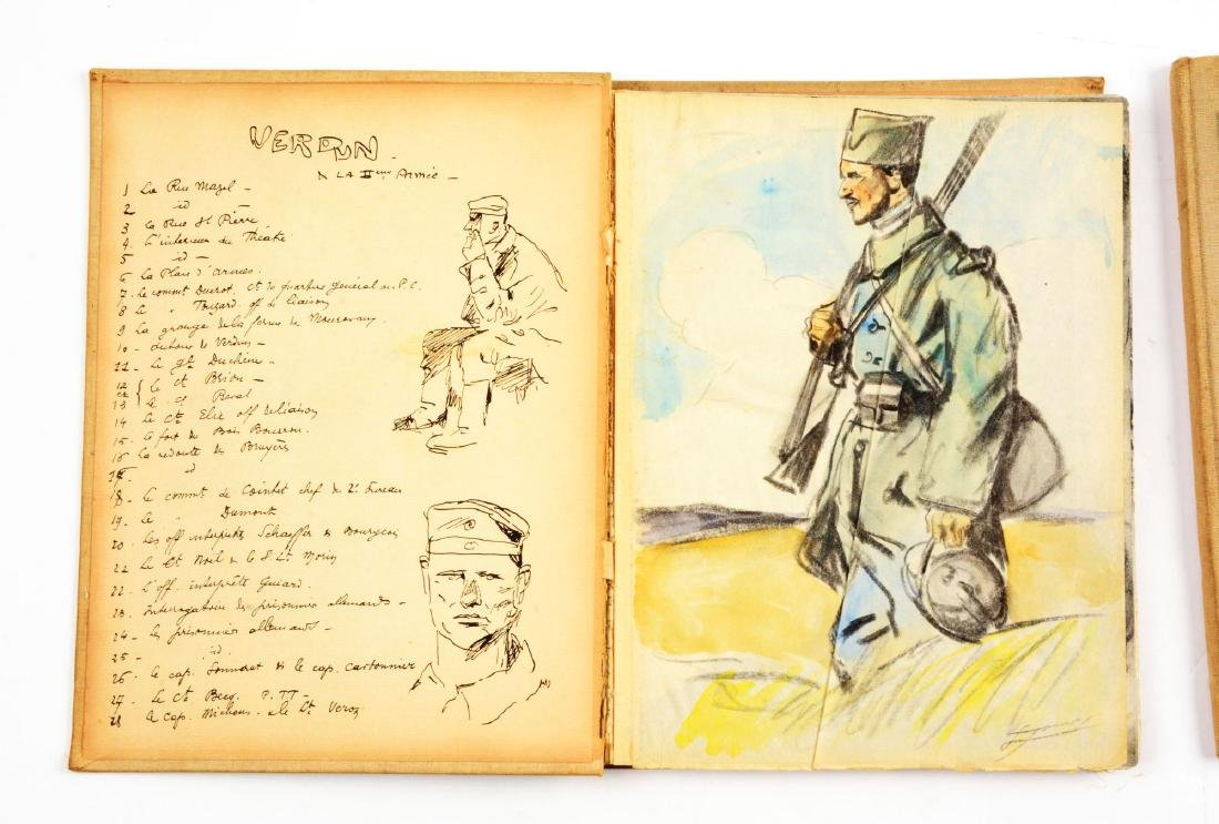 Lot of 4: WWI Battlefield Art or Sketch Books by French - 5