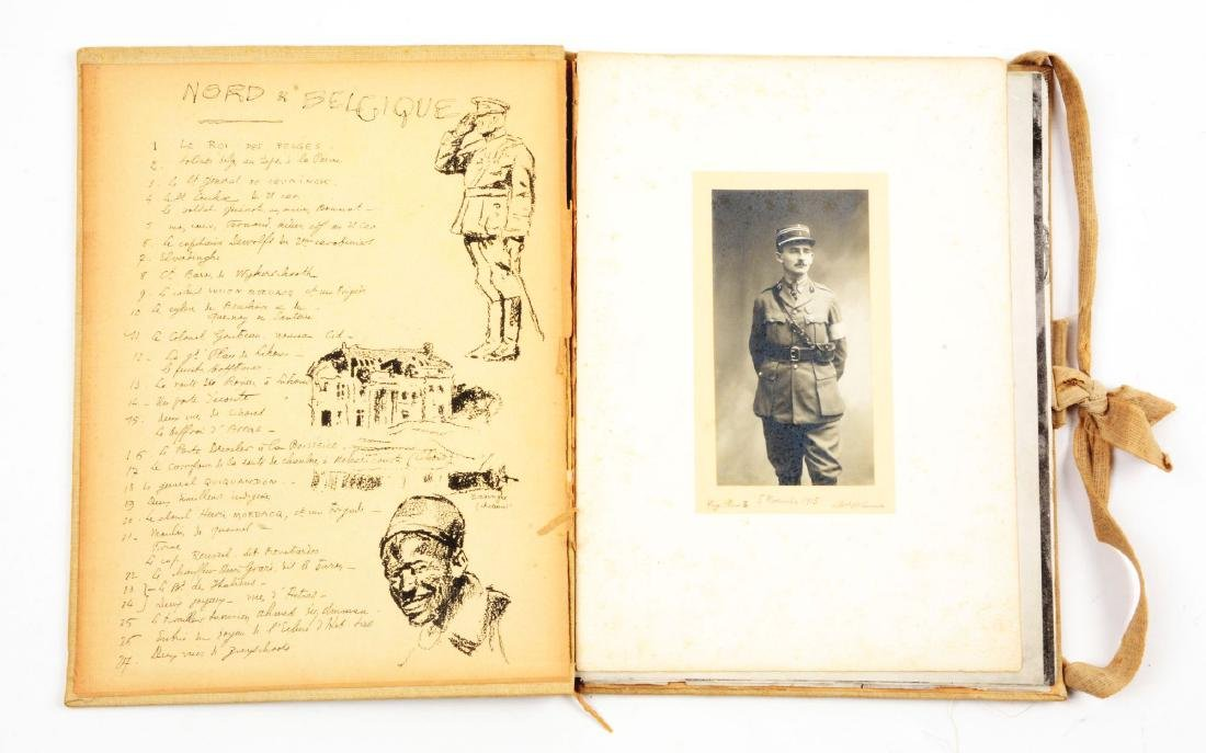 Lot of 4: WWI Battlefield Art or Sketch Books by French - 7