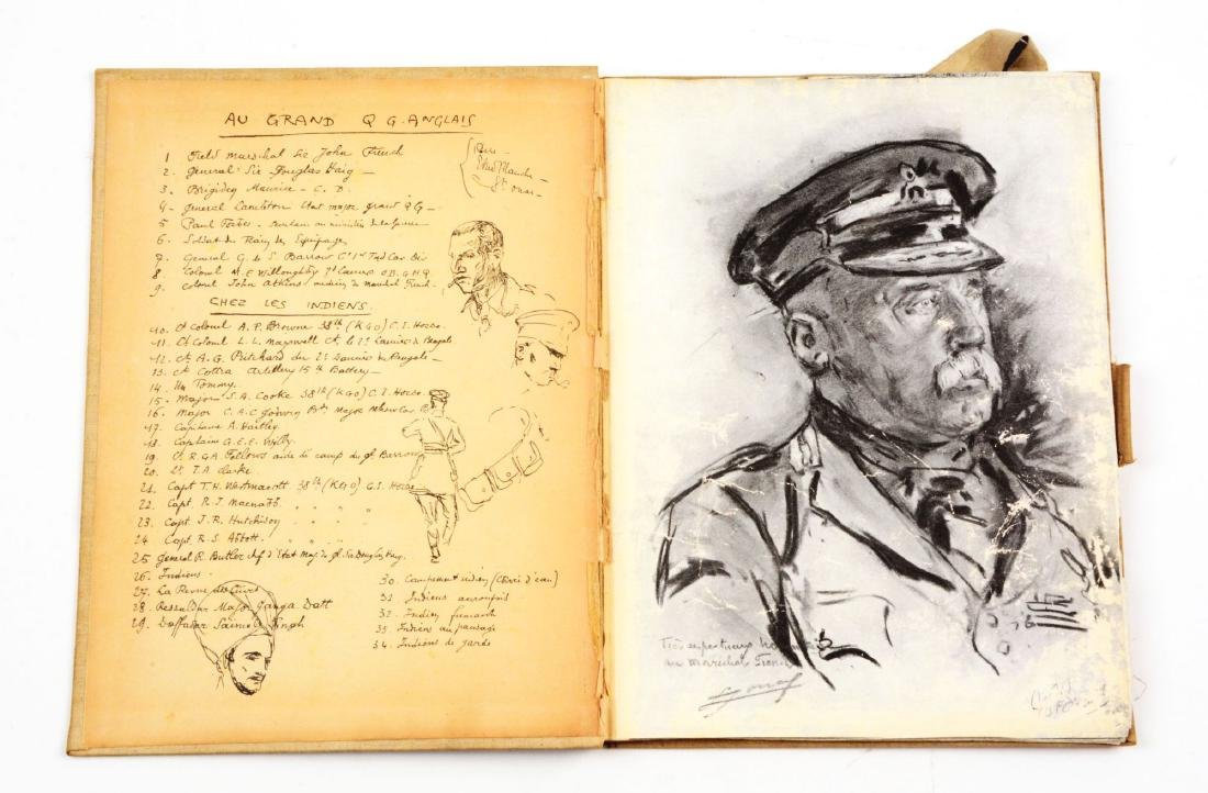 Lot of 4: WWI Battlefield Art or Sketch Books by French - 9