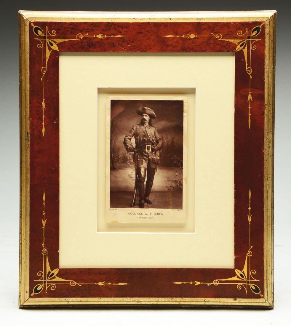Original Early Buffalo Bill Framed Cabinet Card (CDV).