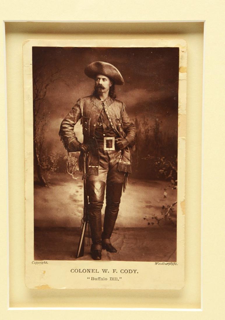 Original Early Buffalo Bill Framed Cabinet Card (CDV). - 3