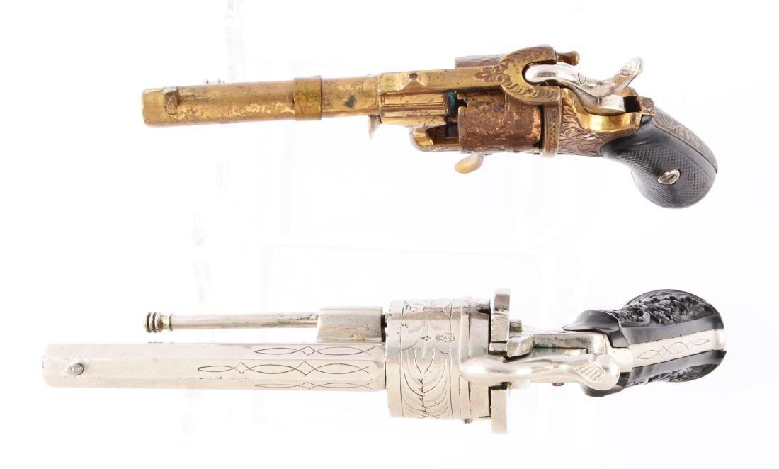 (A) Lot of 2: Systeme Lefaucheaux Pinfire Double Action - 3