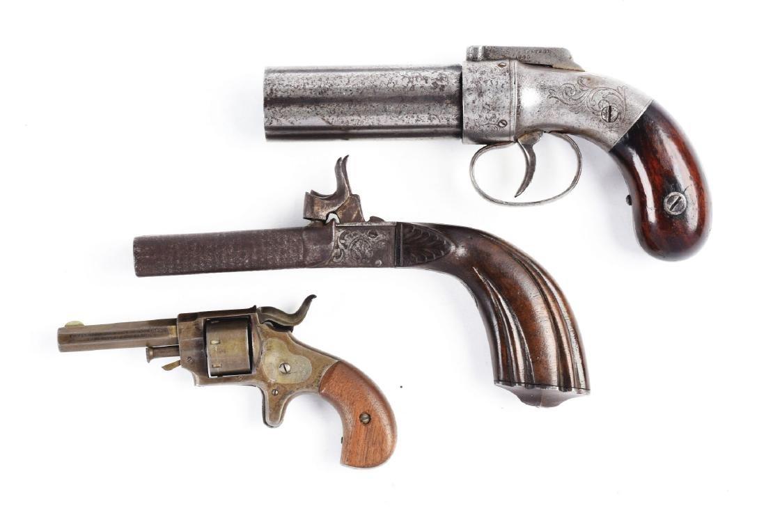 (A) Lot of 3: Antique Handguns. - 2