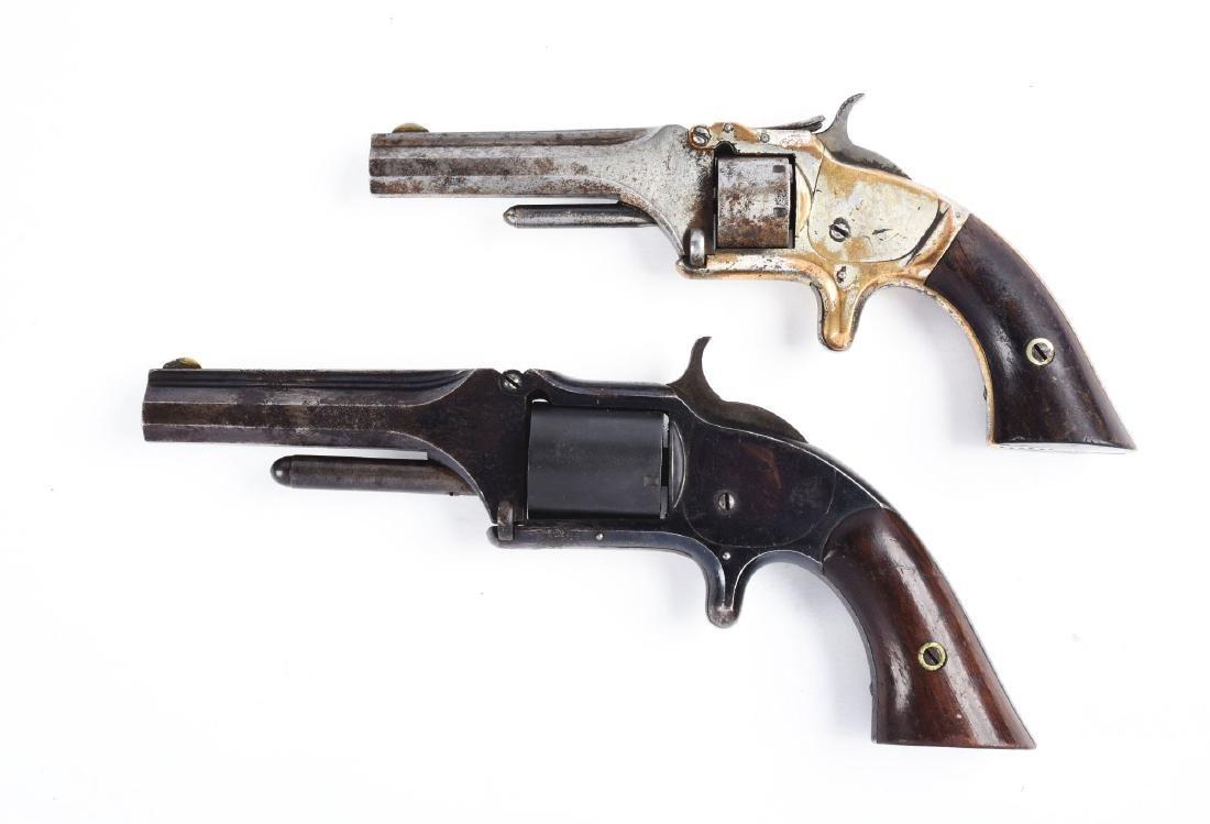 (A) Lot of 2: S&W Tip-Up Spur Trigger Pocket Revolvers. - 2