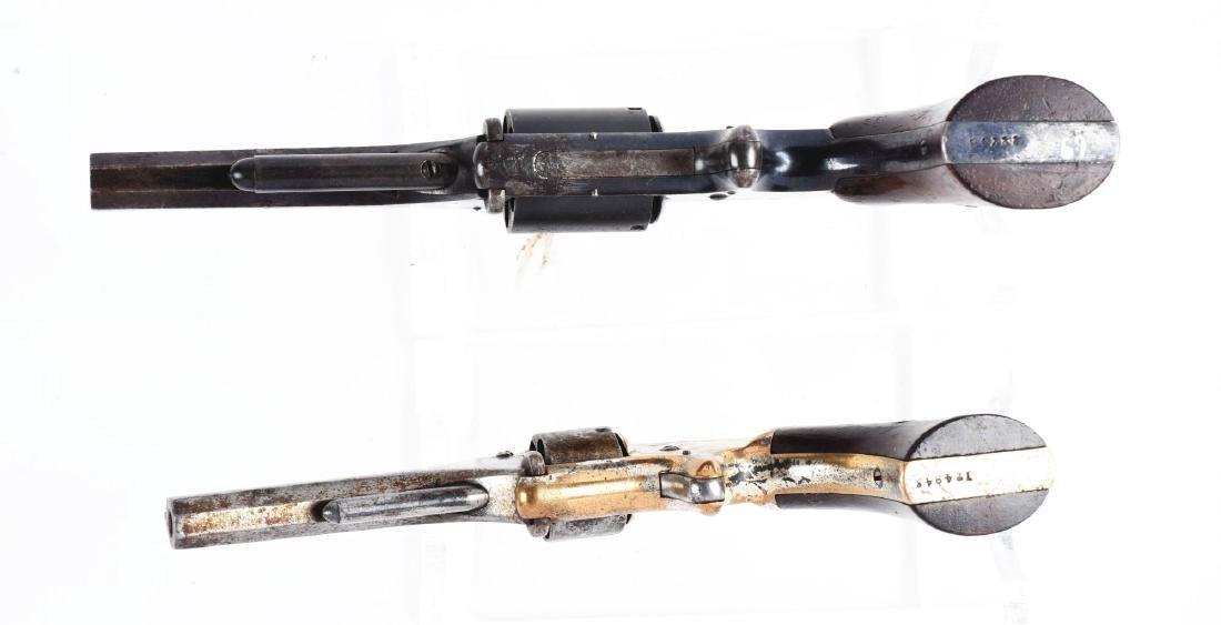 (A) Lot of 2: S&W Tip-Up Spur Trigger Pocket Revolvers. - 3
