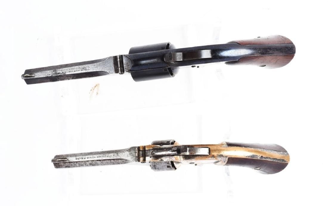(A) Lot of 2: S&W Tip-Up Spur Trigger Pocket Revolvers. - 4