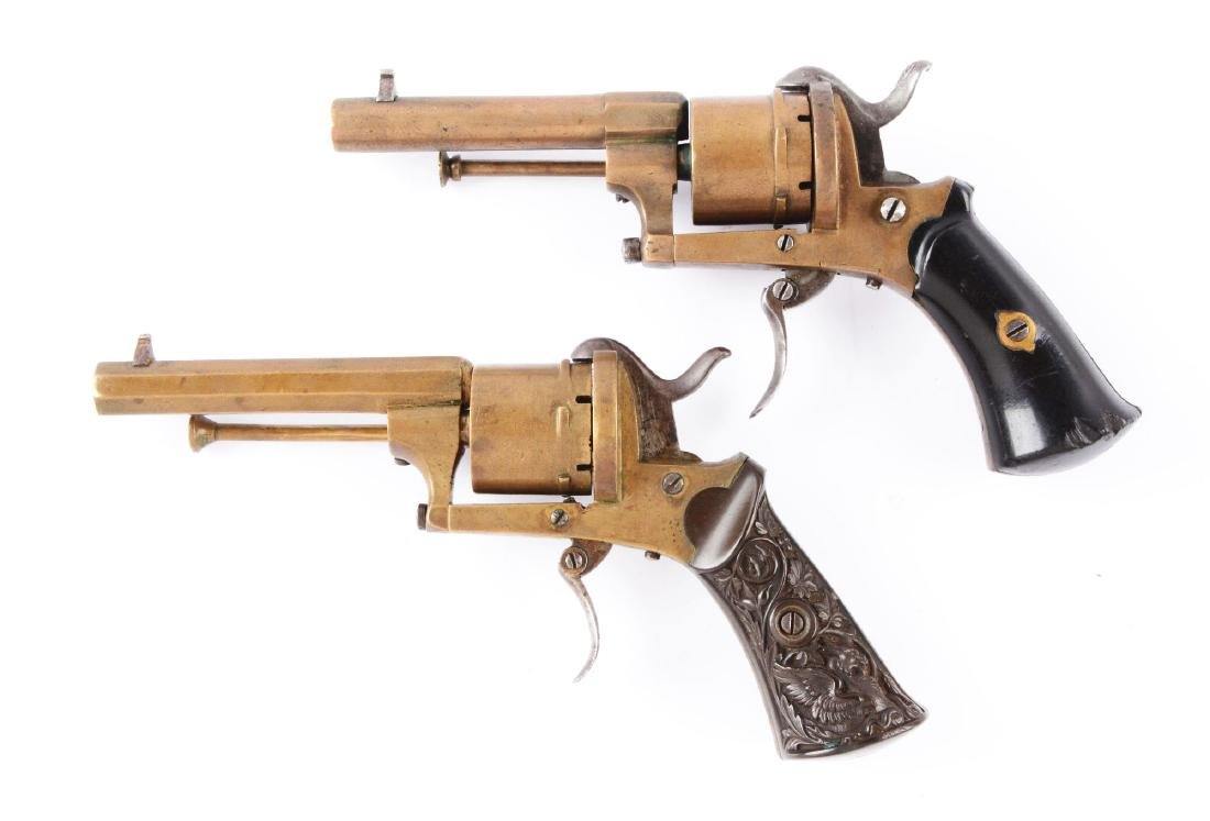 (A) Lot of 2: Rare Brass Systeme Lefaucheaux Pinfire - 2