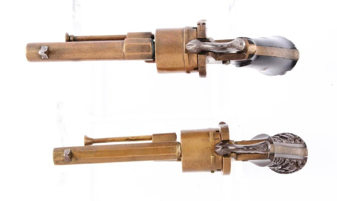 (A) Lot of 2: Rare Brass Systeme Lefaucheaux Pinfire - 3