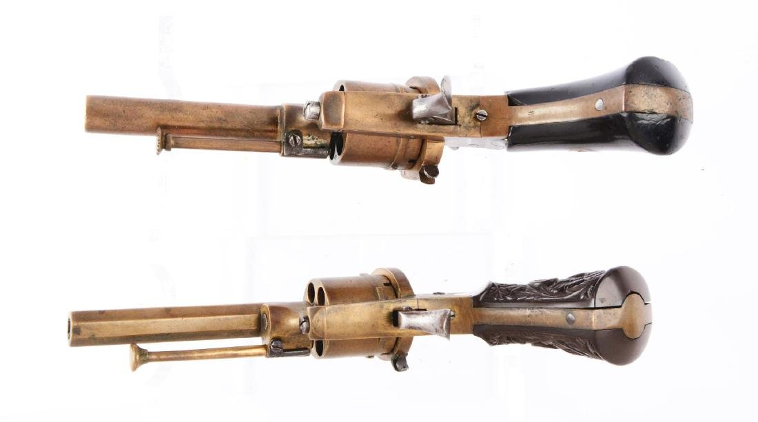 (A) Lot of 2: Rare Brass Systeme Lefaucheaux Pinfire - 4