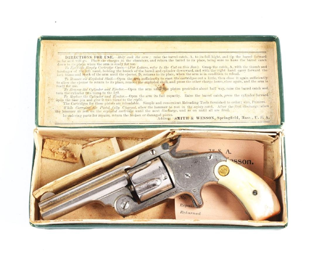 (A) Boxed S&W Model 2 2nd Issue Spur Trigger Single
