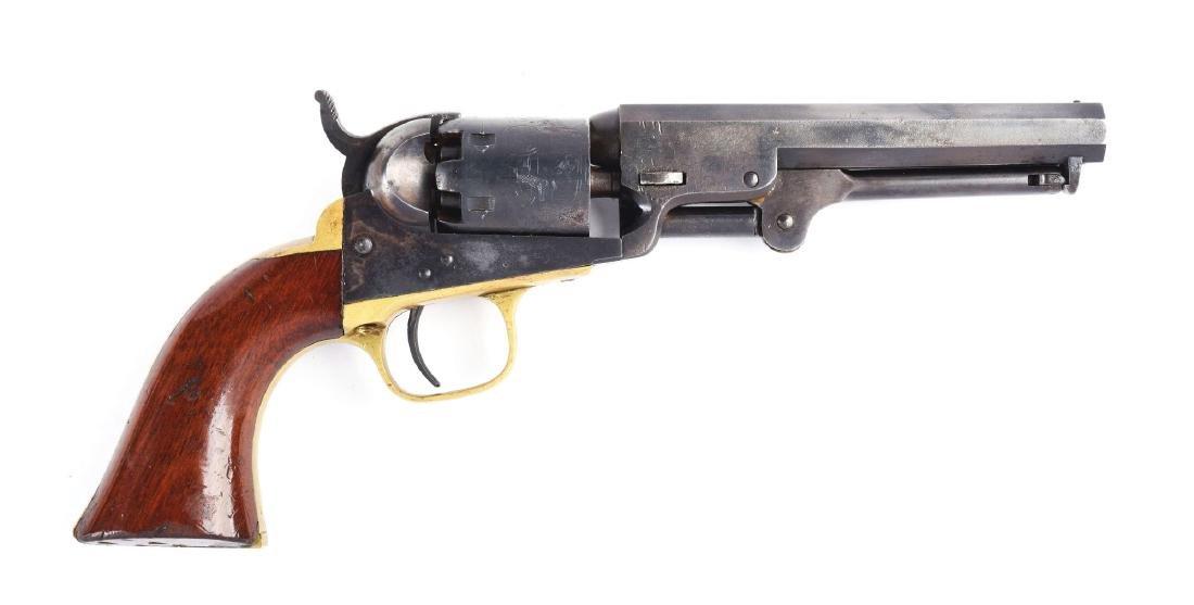 (A) Colt Model 1849 Percussion Pocket Revolver.