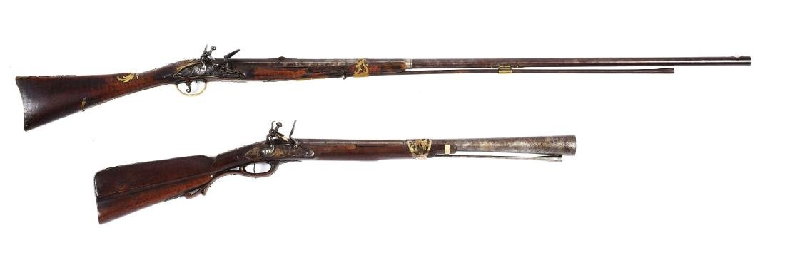(A) Lot of 2: Unique & Decorative Flintlock Firearms.
