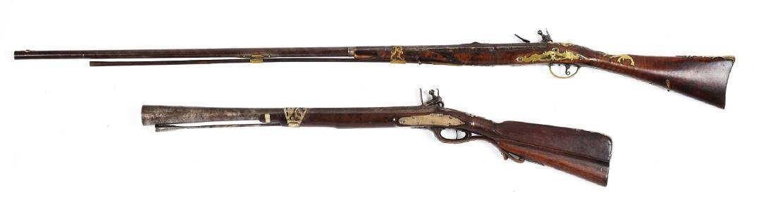 (A) Lot of 2: Unique & Decorative Flintlock Firearms. - 2