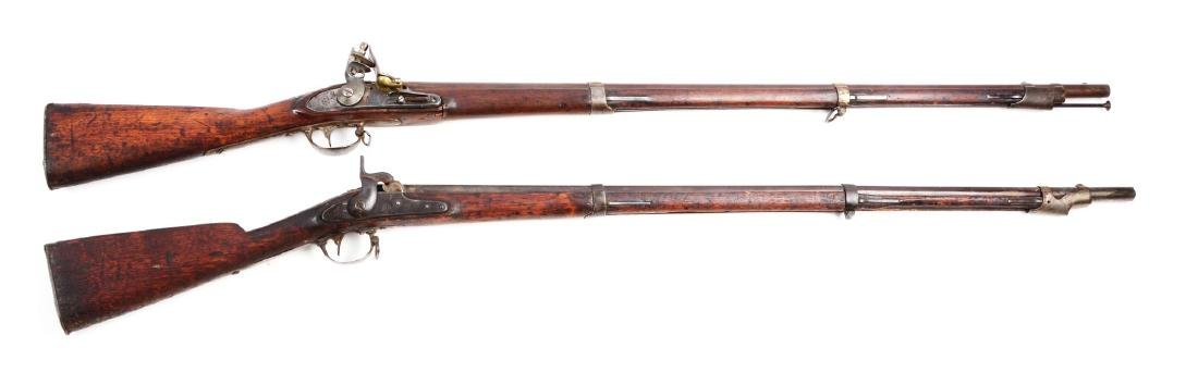 Lot of 2: (A) Early U.S. Springfield Model 1816 and