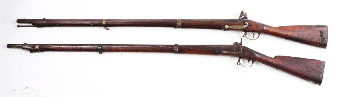 Lot of 2: (A) Early U.S. Springfield Model 1816 and - 2