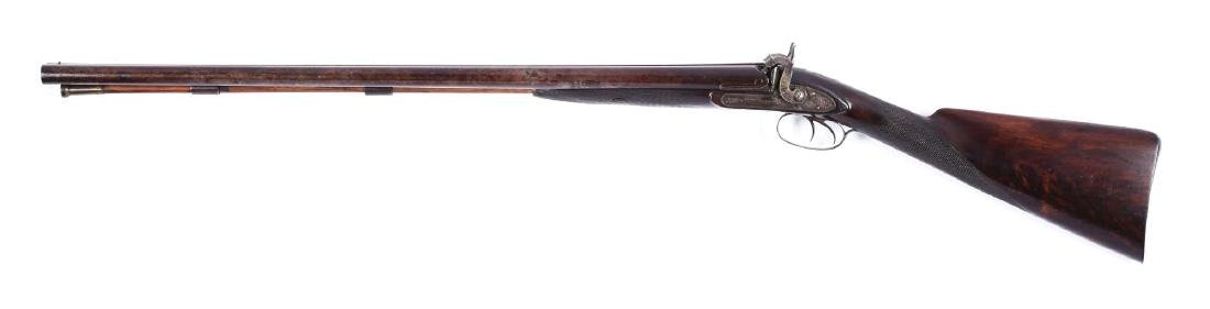 (A) Percussion Double Barrel Shotgun by John Krider of - 2